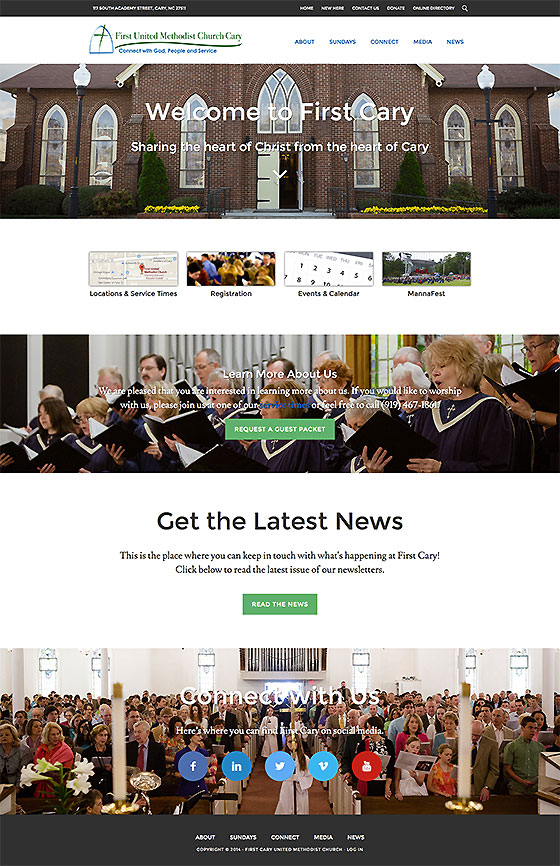 First Cary UMC Website